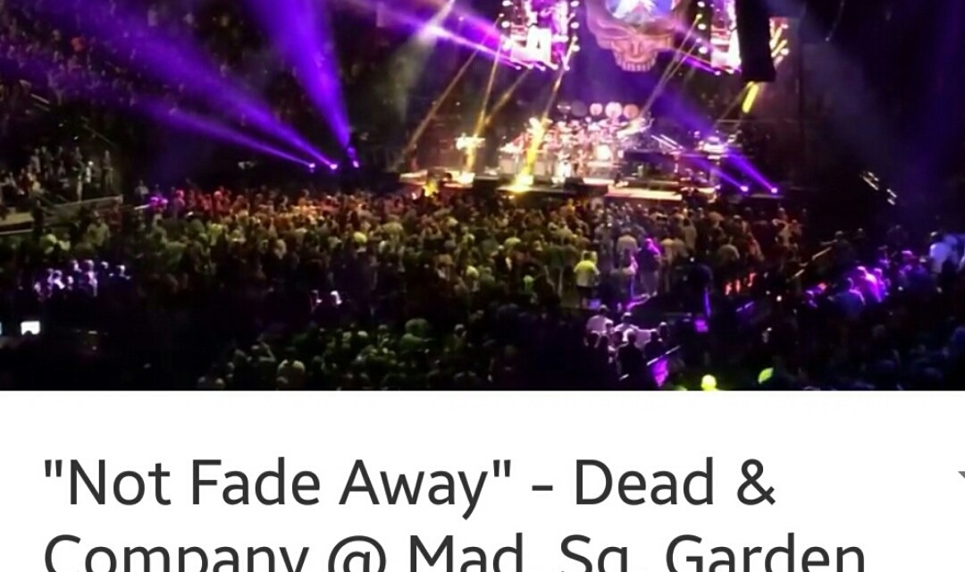 "VIDEO ""Not Fade Away"" – Dead & Company @ Mad. Sq. Garden NYC 11/7/15 Weir, Hart, Kreutzmann w/ John Mayer"
