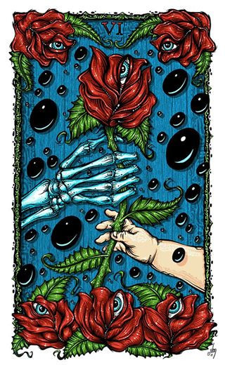 GRATEFUL GIFT GUIDE for DEADHEADS:  The Tarotpin Project  – Tarot images inspired by the songs, character and themes of the  Grateful Dead