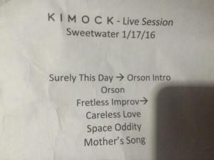 KIMOCK 1.17.2016 Sweetwater set 1