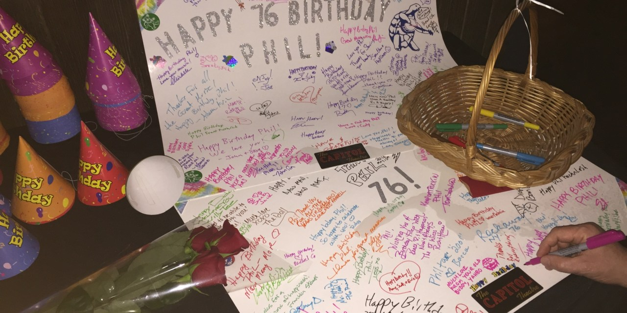 Phil Lesh's 76th birthday card, signed by fans at The Capitol Theatre, Port Chester NY, Tuesday March 15, 2016