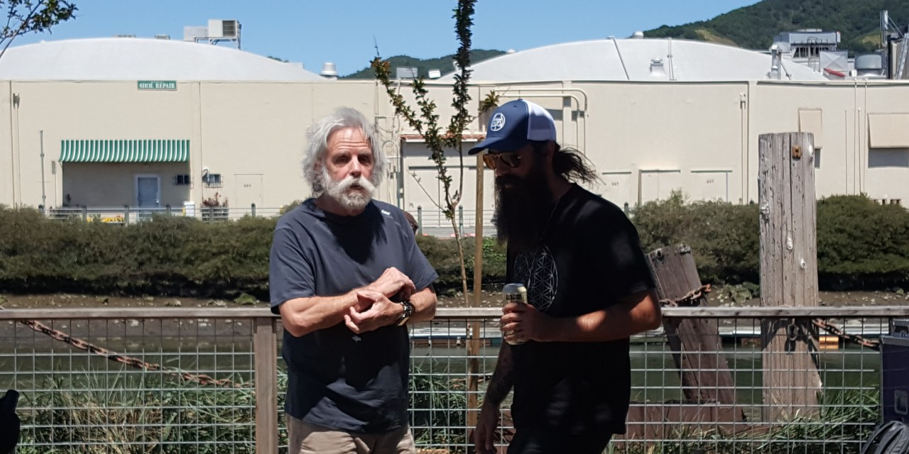 "VIDEO: ""Friend of the Devil, Ripple"" Bob Weir w Phil Lesh and Ross James in the Terrapin Backyard"
