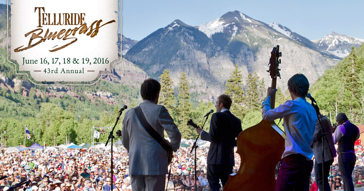 TARP RUN!!!! FESTIIIIIIVVVVAAAALLLLL!!!!  43rd Telluride Bluegrass Festival begins today! Streaming on KOTO.ORG