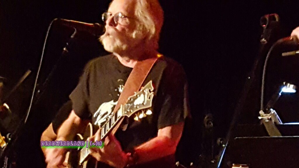 "WEIR EVERYWHERE DEPT:  Everybody's Playin in the Heart of Gold Band ""Scarlet Begonias"" w Bob Weir, Donna Jean Godchaux MacKay, Steve Kimock at Sweetwater on Jerry Garcia's birthday 2016"