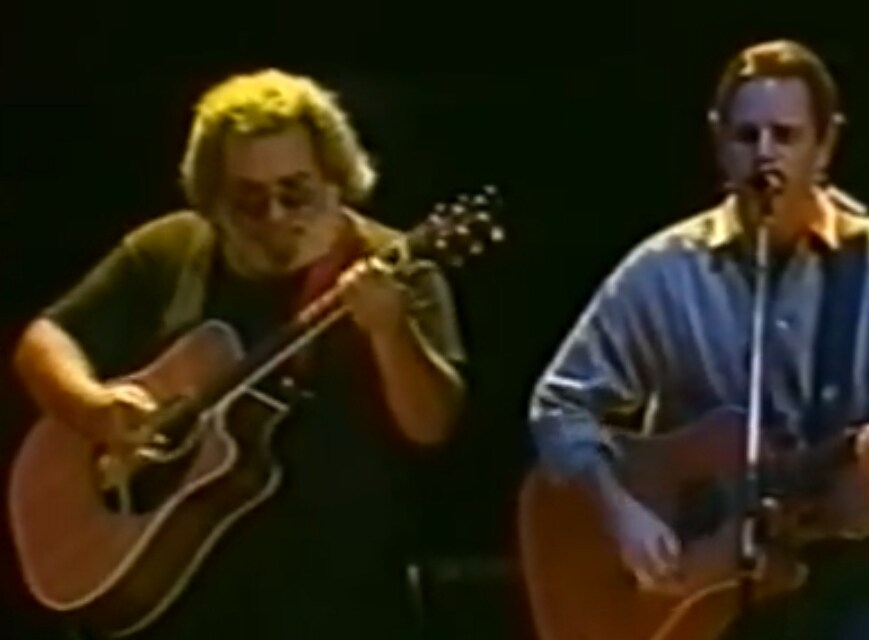 "VIDEO (~);}  Jerry Garcia,  Bob Weir, Rob Wasserman  ""Throwing Stones"" 