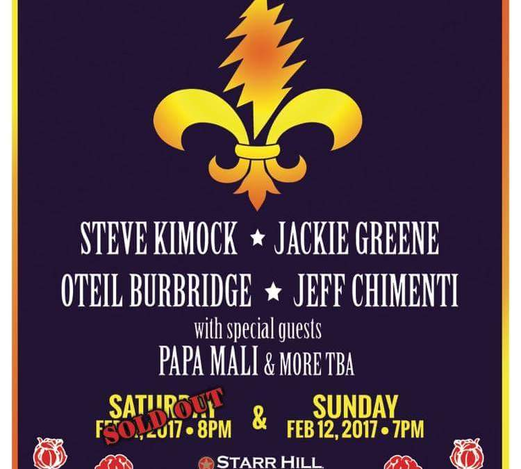 2nd Voodoo Dead show added!Steve Kimock * Oteil Burbridge * Jackie Greene * Jeff Chimenti * Wally Ingram * Papa Mali