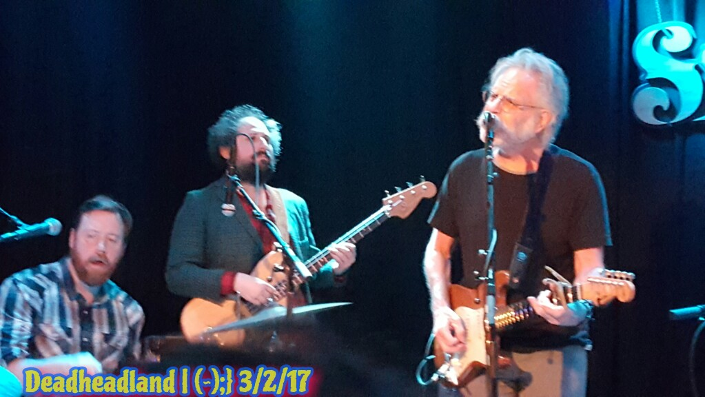"VIDEO  ""Stella Blue""  Bob Weir, Joe Russo, Josh Kaufman, Kevin Morby, Sam Cohen, Eric D. Johnson, Sweetwater Music Hall Mill Valley CA March 2nd 2017"