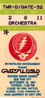#DeadHeadDozen Grateful Dead 9-10-91 MSG NYC w Branford Marsalis