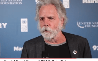 Bob Weir speaks on Climate Change and our  Future  at Social Good Summit 2017 #2030now