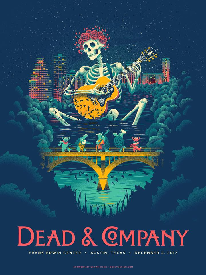 dead and company setlist saturday december 2 2017 frank erwin center austin texas. Black Bedroom Furniture Sets. Home Design Ideas