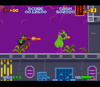 Daffy Duck Marvin Missions SNES - 06