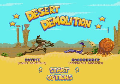 Desert Demolition Starring Road Runner and Wile E Coyote (Genesis) - 01