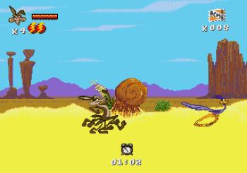 Desert Demolition Starring Road Runner and Wile E Coyote (Genesis) - 02