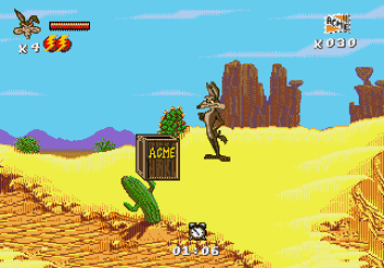 Desert Demolition Starring Road Runner and Wile E Coyote (Genesis) - 06