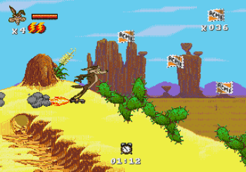 Desert Demolition Starring Road Runner and Wile E Coyote (Genesis) - 08