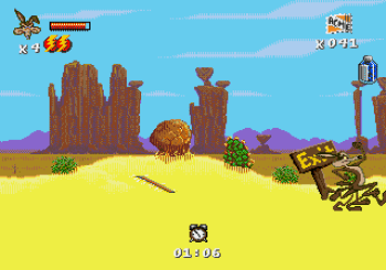 Desert Demolition Starring Road Runner and Wile E Coyote (Genesis) - 09