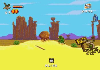 Desert Demolition Starring Road Runner and Wile E Coyote (Genesis) - 09