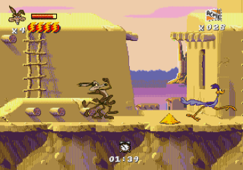 Desert Demolition Starring Road Runner and Wile E Coyote (Genesis) - 10