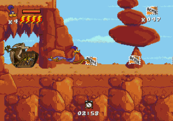 Desert Demolition Starring Road Runner and Wile E Coyote (Genesis) - 28