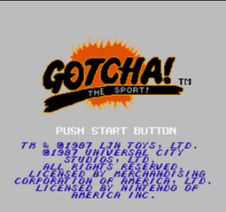 Gotcha! The Sport! (NES) - 01