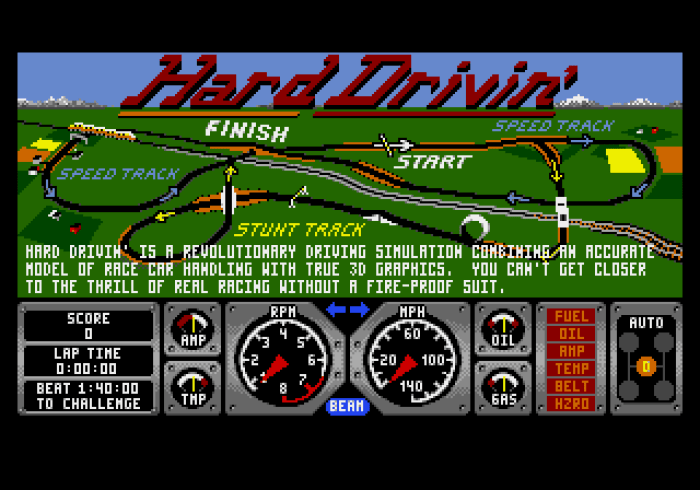 Hard Drivin' (Genesis) - 01