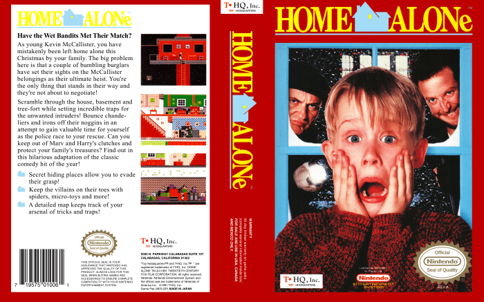 Home Alone NES Full Cover