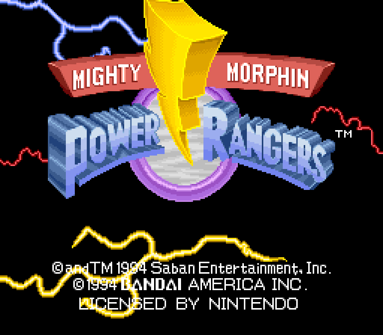 Mighty Morphin Power Rangers (SNES) - 01