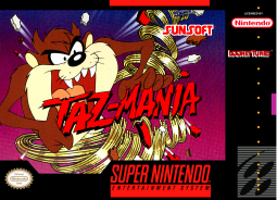 Taz-Mania (SNES) Front Cover