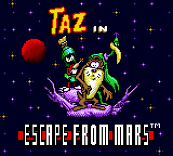 Taz in Escape From Mars (Game Gear) - 01
