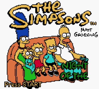 The Simpsons - Night of the Living Treehouse of Horror (Gameboy Color) - 01