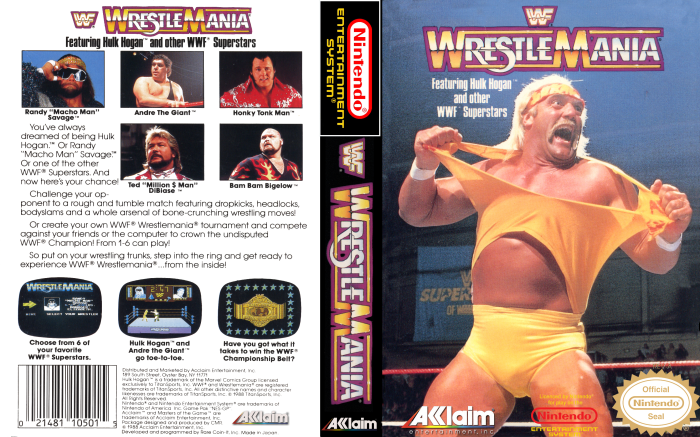 WWF WrestleMania (NES) - Full Cover
