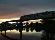 Never wast a Monorail sunset.