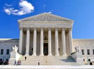Front of U.S. Supreme Court building