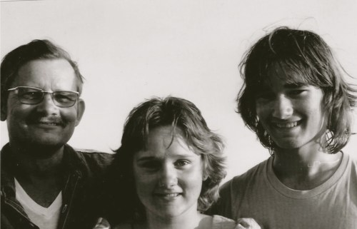 Lloyd with daughter Bobbie and son Byron