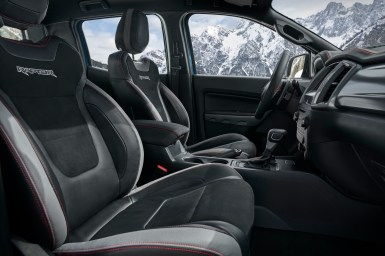 Ford Ranger Raptor SE interior