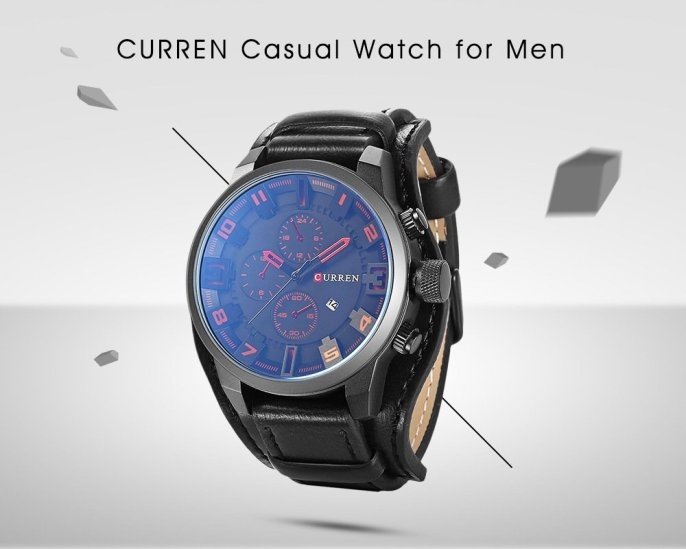 Black Friday 2019 Deals: CURREN 8225 Casual Men Quartz Watch