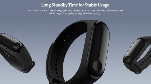 Xiaomi Mi Band 3 Smart Bracelet Steps Count Sleep Monitor Sale