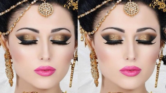 golden deal: party makeup + hair wash + hair style