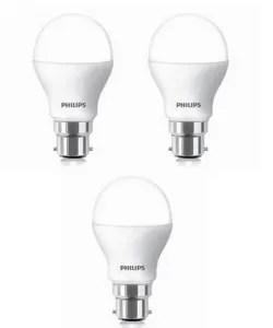 Philips Pack of 3 LED Bulb 9W 6500K 230V Rs 599 paytm