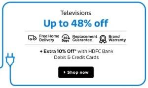 flipkart home electronics sale televisions
