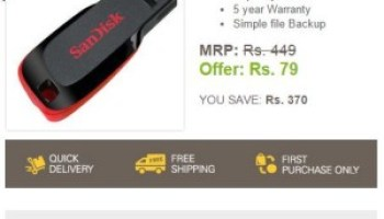 1204dc0385d Ebay – Buy a 16 GB Pendrive for Rs 79 only ( New users only ) « DealForU