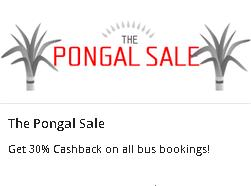 Abhibus (The Pongal Sale) – Get 30% Cash Back on all Bus Booking
