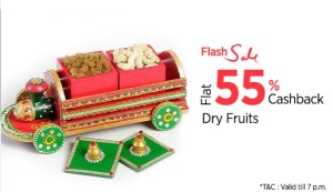 (Loot deals added) Paytm Flash Sale- Buy Dry Fruits at flat 55% cashback