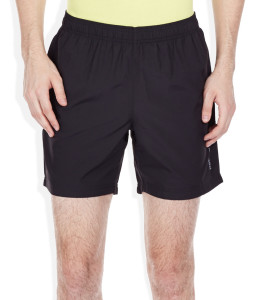 Snapdeal - Reebok Black Solids Shorts at 75% OFF + Extra Rs. 199 FreeCharge Cashback
