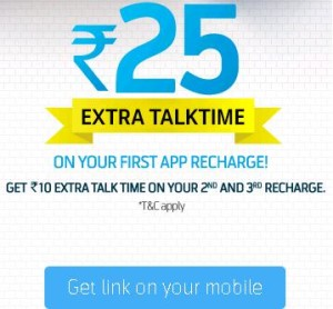 Telenor- Get Rs.25 Extra Talktime on your First App Recharge (New User only)