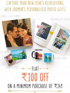 Zoomin- Get Rs.100 off on purchase order worth Rs.249 or above