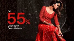 Paytm Deal - Get great discounts + extra 55% cashback on Women Dress Material and Sarees
