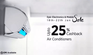 (Suggestions Added) Paytm Epic Electronics Sale – Get amazing discounts + extra 25% cashback on Air Conditioners