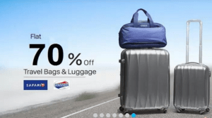 Paytm Fab Fashion Sale – Save flat 70% on branded luggage bags like American Tourister, Safari etc