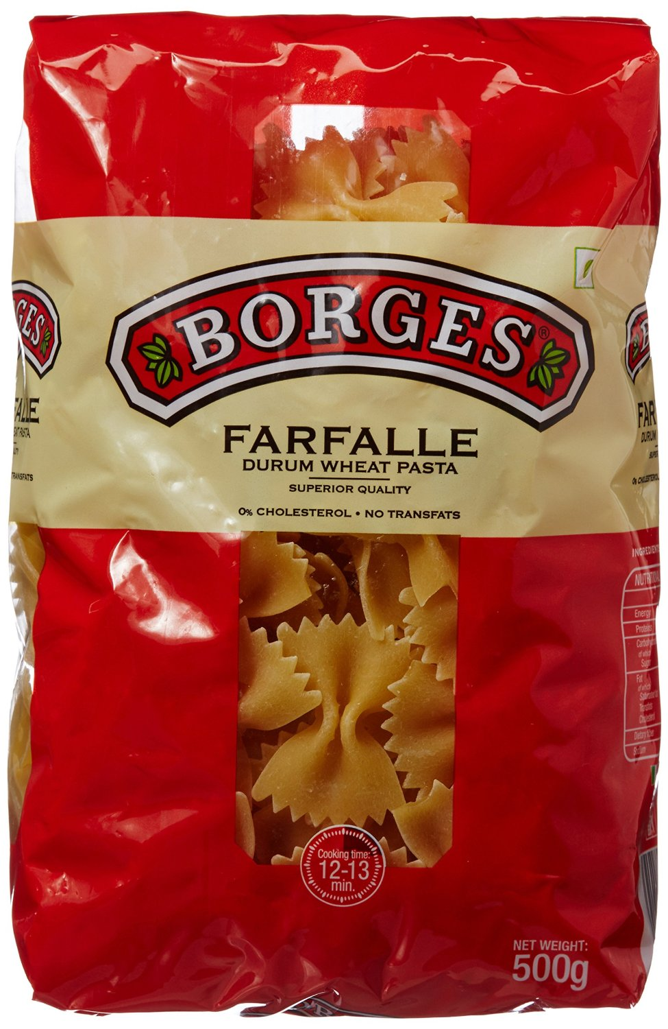 Amazon - Buy Borges Farfalle Durum Wheat Pasta, 500g at Rs 99 Only