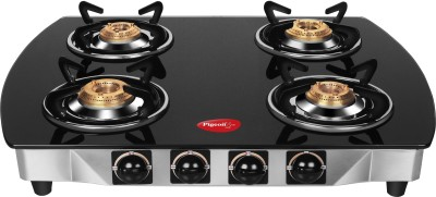Snapdeal - Buy Pigeon Brass Black 4 Burner Glass Top at Rs 4,000 Only